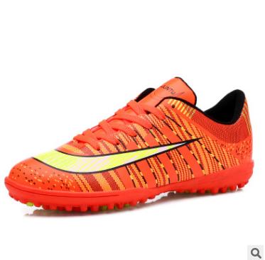 2017新款防滑碎钉<span class='H'>足球鞋</span>男士透气草地足球训练鞋外贸供货